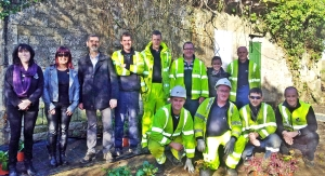 Airtricity team and Monaghan Tidy Towns at Rooskey lock house