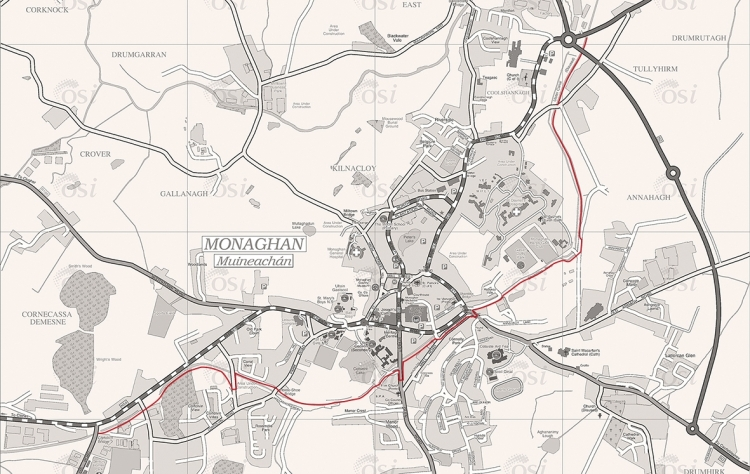 Ulster Canal Greenway route map
